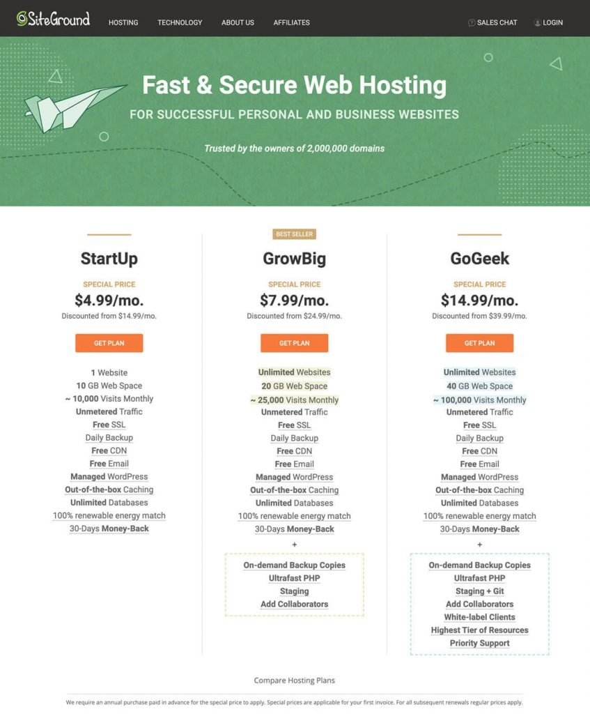 signup siteground hosting geek-troit